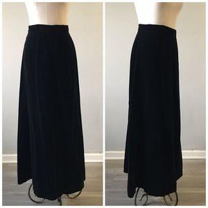 NWT Vintage Jane Ashley Black Jersey Maxi Skirt